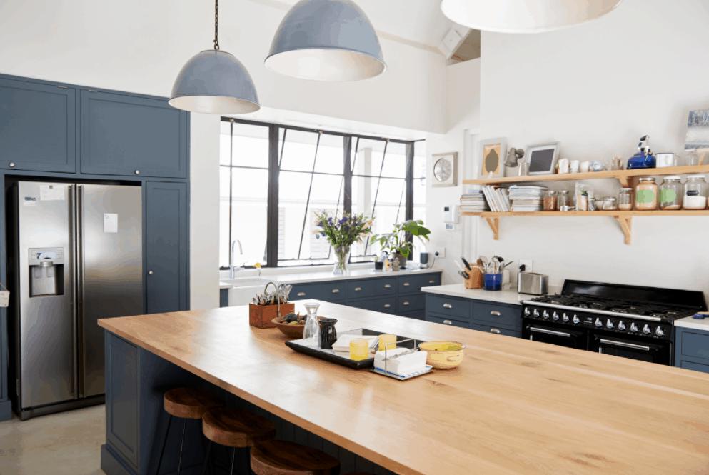 Blue Kitchen Renovation